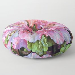 Courtenay Lady Rhododendron Floor Pillow