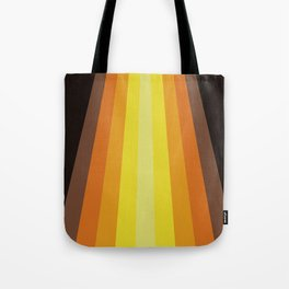 Retro Warm Tone 70's Stripes Tote Bag
