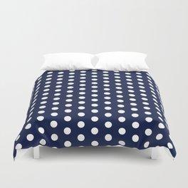 Navy Blue Polka Dots Minimal Duvet Cover
