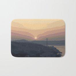 Bosphorus Bridge, Sunset Bath Mat