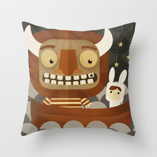 Where the wild things are fan art Throw Pillow