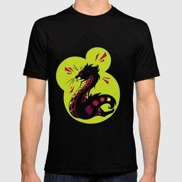 African Civet (Civettictis civetta) Watermelon/Lime Palette T-shirt