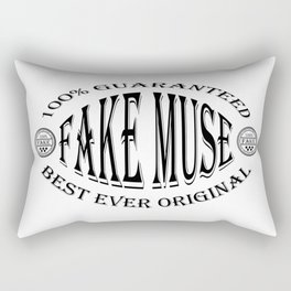 Fake Muse badge (black) Rectangular Pillow