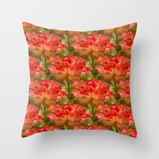 Roses Galore Throw Pillow