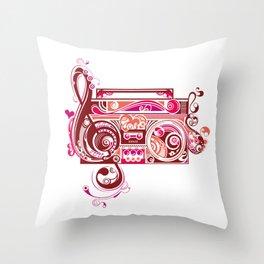 Tribal Music Throw Pillow