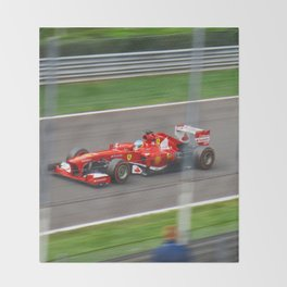 Fernando Alonso - 2013 Gran Premio d'Italia Throw Blanket