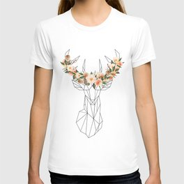 Deer with Flower Crown T-shirt