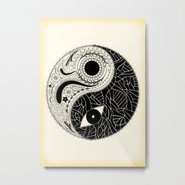 Yin & Yang - [collaborative art with Magdalla del Fresto] Metal Print