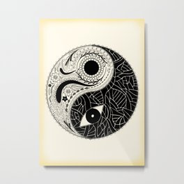 Yin & Yang - [collaborative art with Magdalla del Fresto] Metal Print