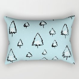 Evrgreen tree pattern Rectangular Pillow