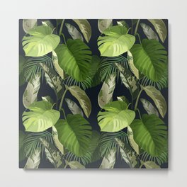 Tropical Leaf Pattern 1 Metal Print