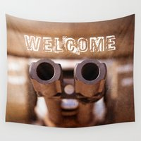 welcome Wall Tapestries featuring Welcome by digital2real