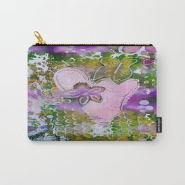 Lavender Hearts and Flowers Carry-All Pouch