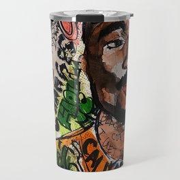 thug,rapper,rap,hiphop,music,rip,fan art,graffiti,street art,poster,colorful,lyrics,music,wall art Travel Mug
