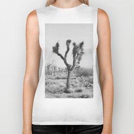 Joshua Tree in Black and White Biker Tank