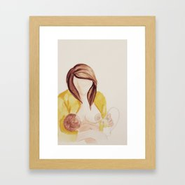 Breastfeeding Art - The art of expressing  Framed Art Print