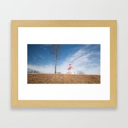 a little cutie on bicycle Framed Art Print