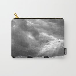 Birds flying in front of a dramatic sky. Hilborough, Norfolk, UK Carry-All Pouch