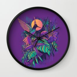 Purple Garden Wall Clock