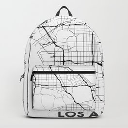 Minimal City Maps - Map Of Los Angeles, California, United States Backpack