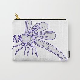 Dragonfly Flying Drawing Side Carry-All Pouch