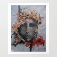 """""""Domina Aurora"""" By Nisus L'art Art Print"""