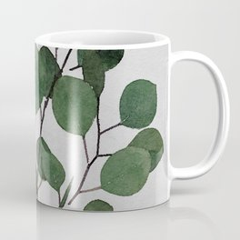 Eucalyptus Leaf Stem Botanical Forest Green Watercolor Nature Farmhouse Painting Art Print Wall Decor  Coffee Mug