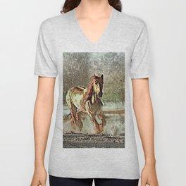 Toony Horse Unisex V-Neck