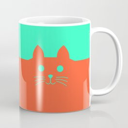 Meow Orange Turquoise Coffee Mug