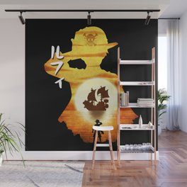Minimalist Silhouette The Captain Wall Mural