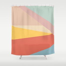 Retro Abstract Geometric Shower Curtain