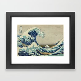 The Classic Japanese Great Wave off Kanagawa Print by Hokusai Framed Art Print