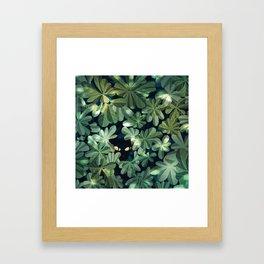 Where´s the kitty? Framed Art Print