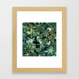 Where´s the kitty? Framed Art Print