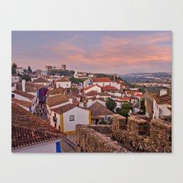 Obidos, dusk Canvas Print