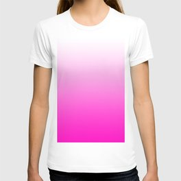 White and Pink Gradient 043 T-shirt