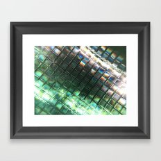 Rainbow pixels Framed Art Print