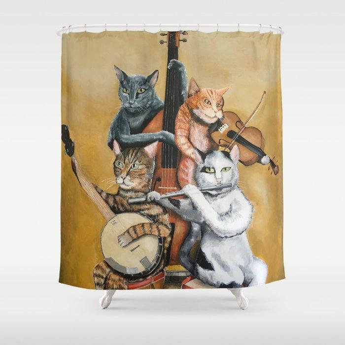 Cat Quartet Shower Curtain