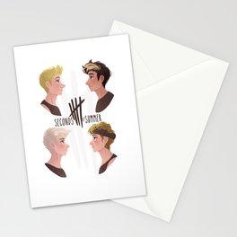 Jet Black Heart Stationery Cards
