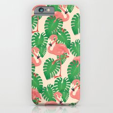 Flamingo in Tropical Forest iPhone 6 Slim Case