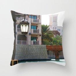 Dubai - Outside Burj Al Arab Throw Pillow