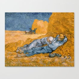 Noon - rest from work by Vincent van Gogh Canvas Print