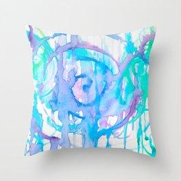 Mermaid Spirals Throw Pillow