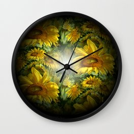 Sunflowers in the Light.... Wall Clock