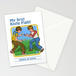 MY FIRST KNIFE FIGHT Stationery Cards