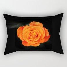 Romantic Rose Orange Rectangular Pillow