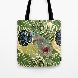 My abstract Aloha Jungle Garden Tote Bag