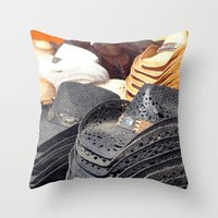 hats Throw Pillows featuring Cowboy Hats by Tiffany Dawn Smith