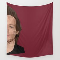 louis tomlinson Wall Tapestries featuring Louis Tomlinson Poly Half Face by summergirl