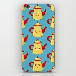 Tea pot smile iPhone Skin
